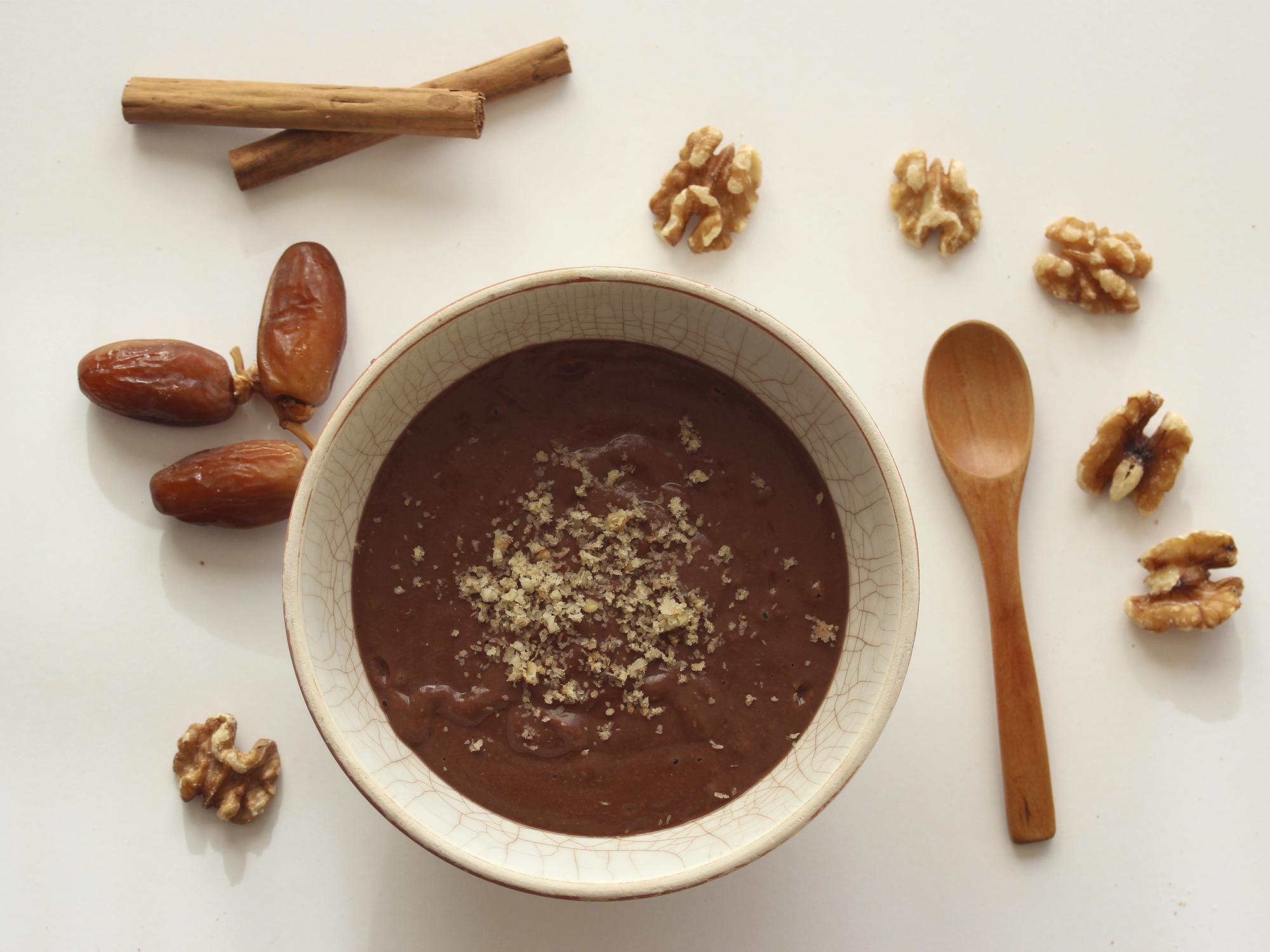 Batido de chocolate cremoso